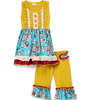 New arrival yiwu children clothes adorable lovely children boutique outfit