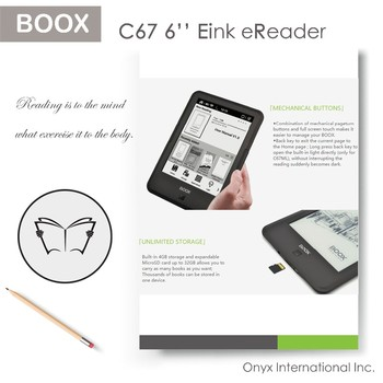 "6"" ultra HD carta screen E-readers rapid refresh technology front light and wifi"