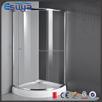 Flat Tempered Glass bathroom plastic lowes freestanding round shower enclosure