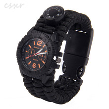 Custom logo CSXR Survival fishing tool kit 550 paracord watch for men