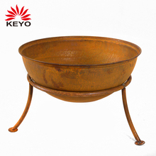 High Quality Outdoor Metal Iron Steel Firepit Outdoor Heating Natural Rusted Fire Pit