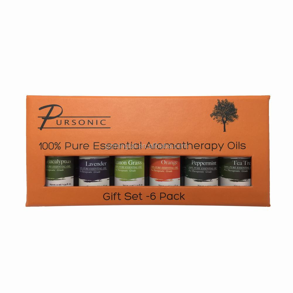 Pure Essential Oil 6 bottles/set Organic Massage Oil Gift Set Therapeutic Grade