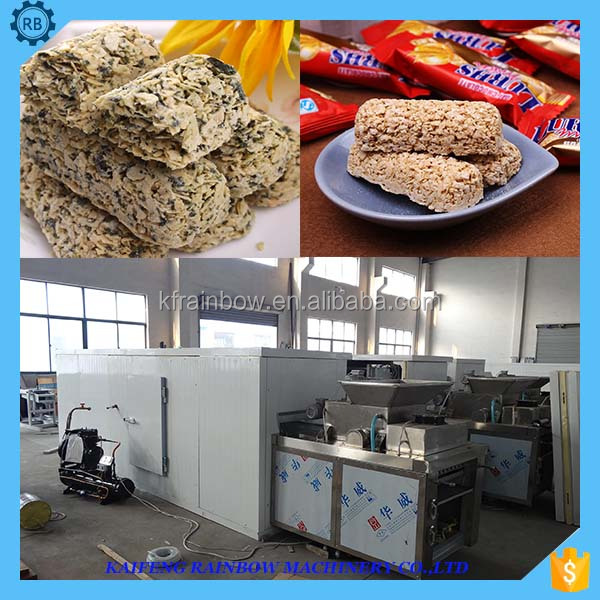 Professional Good Feedback Peanut Candy Bar Maker Machine Cereal Snacks Bar Cutting Machine/Peanut Brittle Making Machine