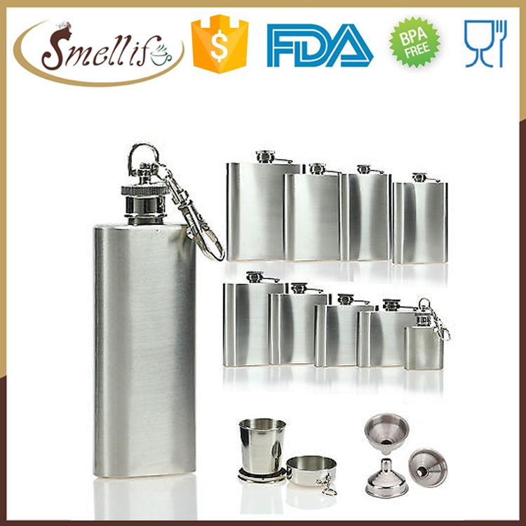 high quality French 18 8 stainless steel special shaped hip flask with