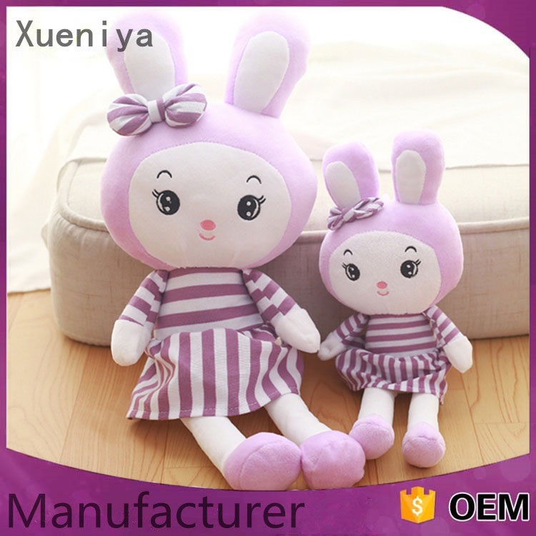 China Promotion Custom Rabbit Stuffed Cute Bunny Plush Toys For Kids