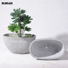 FR20 High quality magnesia indoor outdoor oval planter flower pots