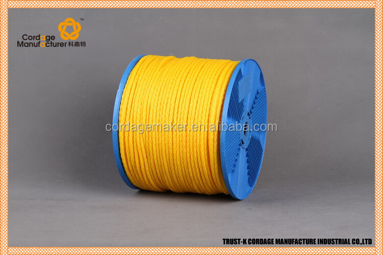 Excellent colored pp 3 strands twisted rope