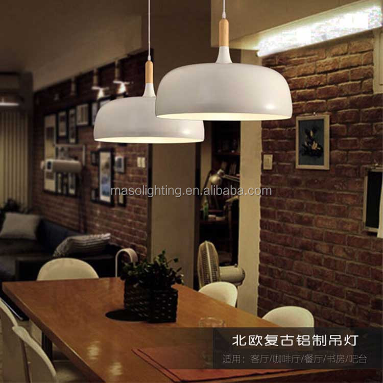 Contemporary Modern Nordic Pendant Lamp Bar counter Kitchen Cafe light fixture wooden Iron Simple fashion cast iron ceiling lamp