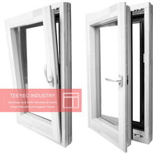 Teeyeo cheap new mould windows sections upvc and pvc tilt and turn doors and windows