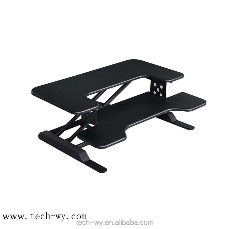 Bottom price best quality crank adjustable height table with keyboard tray