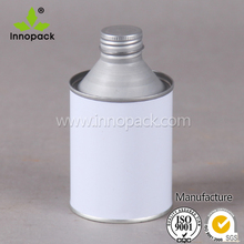 screw top white aluminum can round tin cans customized printed can for chemical liquid