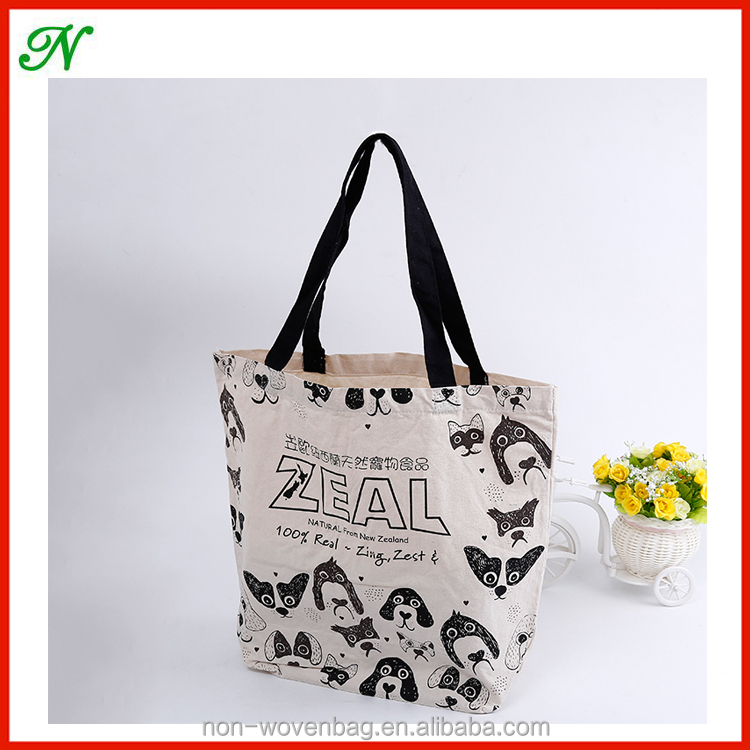 Customized Design Reusable Cotton Tote Shopping Bag