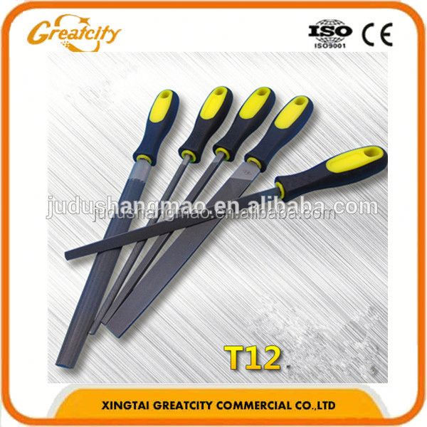 "Plastic handle 8"" 2pcs set steel files metal rasp"