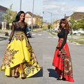 lx10166a latest clothes women summer african print skirts wholesale long skirts