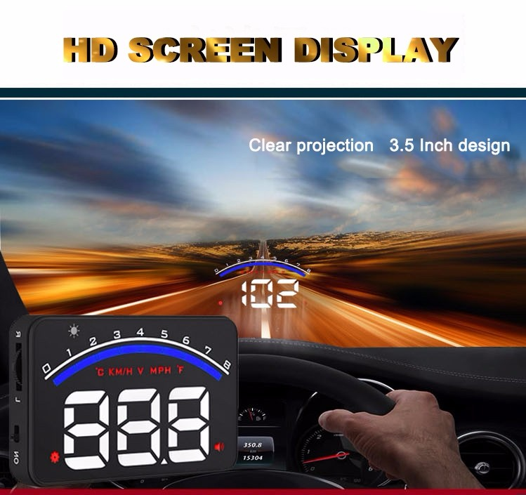 M6 3.5 inch OBD2 HUD Head up display With Low Voltage Alarm