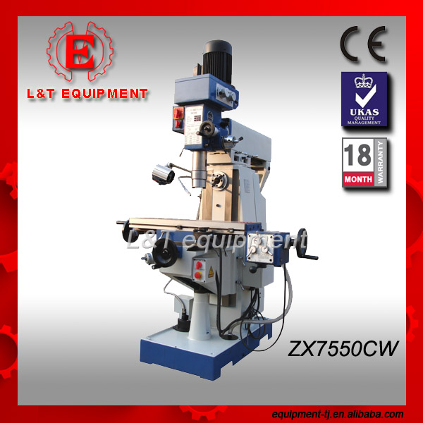 ZX7550CW CE Certificated Drilling Milling Machine