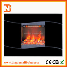 wall mounted Air purification Decor flame effect electric fireplace heater