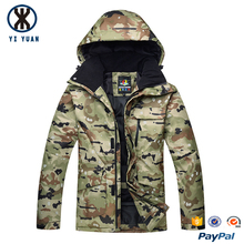 Winter new style fashion camo jacket men wholesale with hood