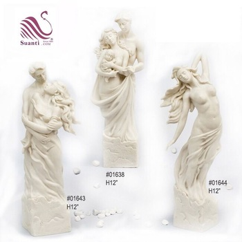 Wholesale White Golden Resin Angel Fairy Figurines for Home Decoration