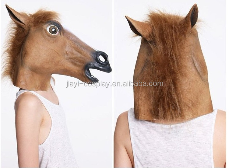 cheap price factory quality LaTeX halloween party horse masks