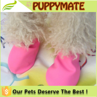 2016 New wholesale colourful fashion waterproof pet dog shoes / silicone shoes