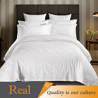 Hotel textile jacquard bedding sets dobby quilt cover sets on sale