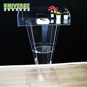 UNIVERSE clear acrylic lectern pulpit for hotel school conference