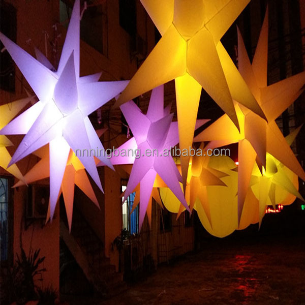 NB-AD3034 Innovative Sweet inflatable led stars for Nightclub decoration