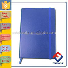 high quality 2015 custom wholesale pu leather bound notebooks with elastic band