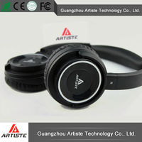 Wireless blue tooth stereo rechargeable noise cancelling headphones go pro with microphone made in china