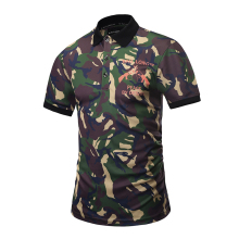 2017 OEM custom new design man sublimated polo shirt with pattern