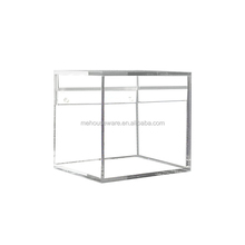 Wall mounted acrylic book shelf clear ball display case
