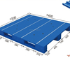 high quality 48 x 32 inch stackable nilkamal plastic pallets F0126