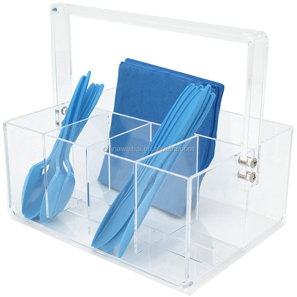 acrylic spoons and forks display stand for 4pcs