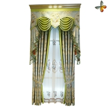 living room blackout hotel high quality polyester jacquard curtains wholesale