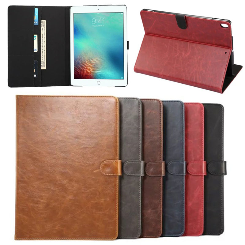 For iPad Pro 10.5 Cover Case, High Quality Retro Crazy Horse Pattern PU Leather Case for iPad Pro 10.5