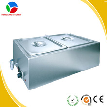 Hot sale food warmer buffet pans/electric steam bain marie /stainless steel bain marie