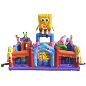 Funcity inflatable amusement park commercial kids inflatable amusement park for fun