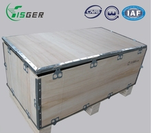 Wood Strong Packaging Boxes Crates for Storage or Exhibition with Hinges