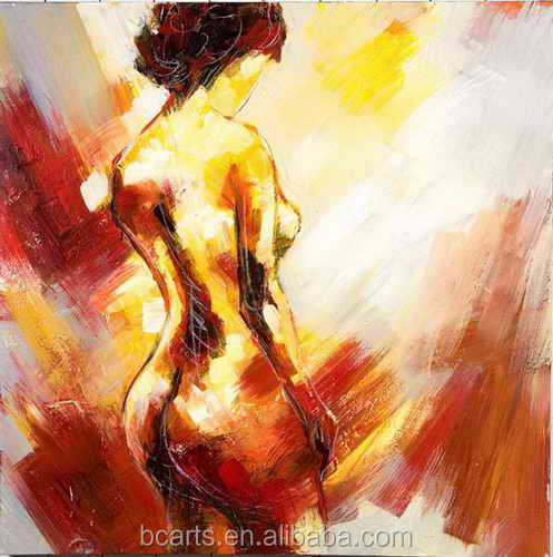 Nude portrait sexy woman abstract handmade oil painting on canvas