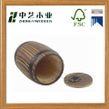Eco-friendly China manufacturers burnt pine brown rustic wooden coffee barrels