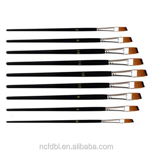 Professional nylon filbert hair watercolor & acrylic painting pen drawing paint brush art supplies crafts