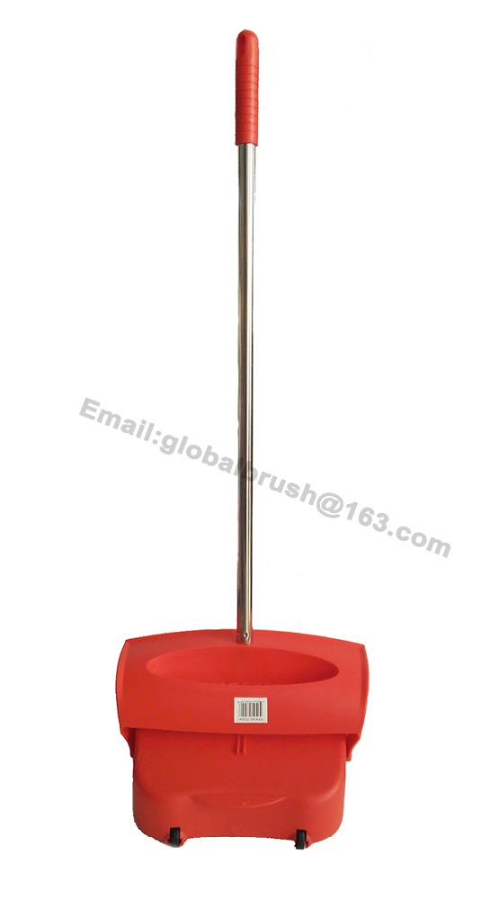 Item No.7007 Long steel handle lobby dust pan with cover