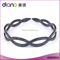 Top quality cellulose acetate eco-friendly headwear wreath pose hairbands super elastic