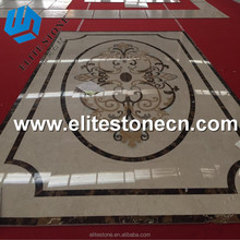 Top quality home inlay waterjet marble tiles design pattern flooring