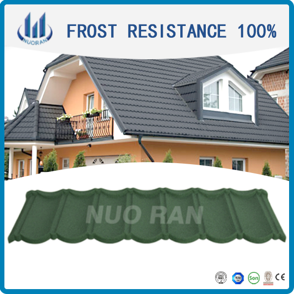 Stone Coated Metal Roofing Tile / Textured Metal Roof / Decorative Ridge Tiles