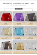 Factory Price For iPad pro case Matte Soft matte PC Cover Case Mix Colors 12.9 inch