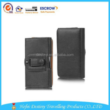 new product high quality practical fashional durable man leather phone waist bag