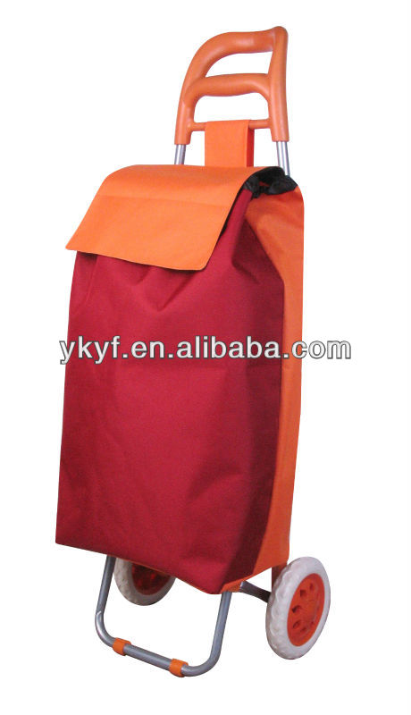 Shopping Trolley Bag with PVC fabric