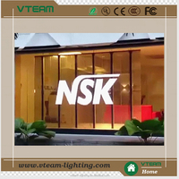 Outdoor Building glass window advertising led display Glass LED wall/glass wall led screen